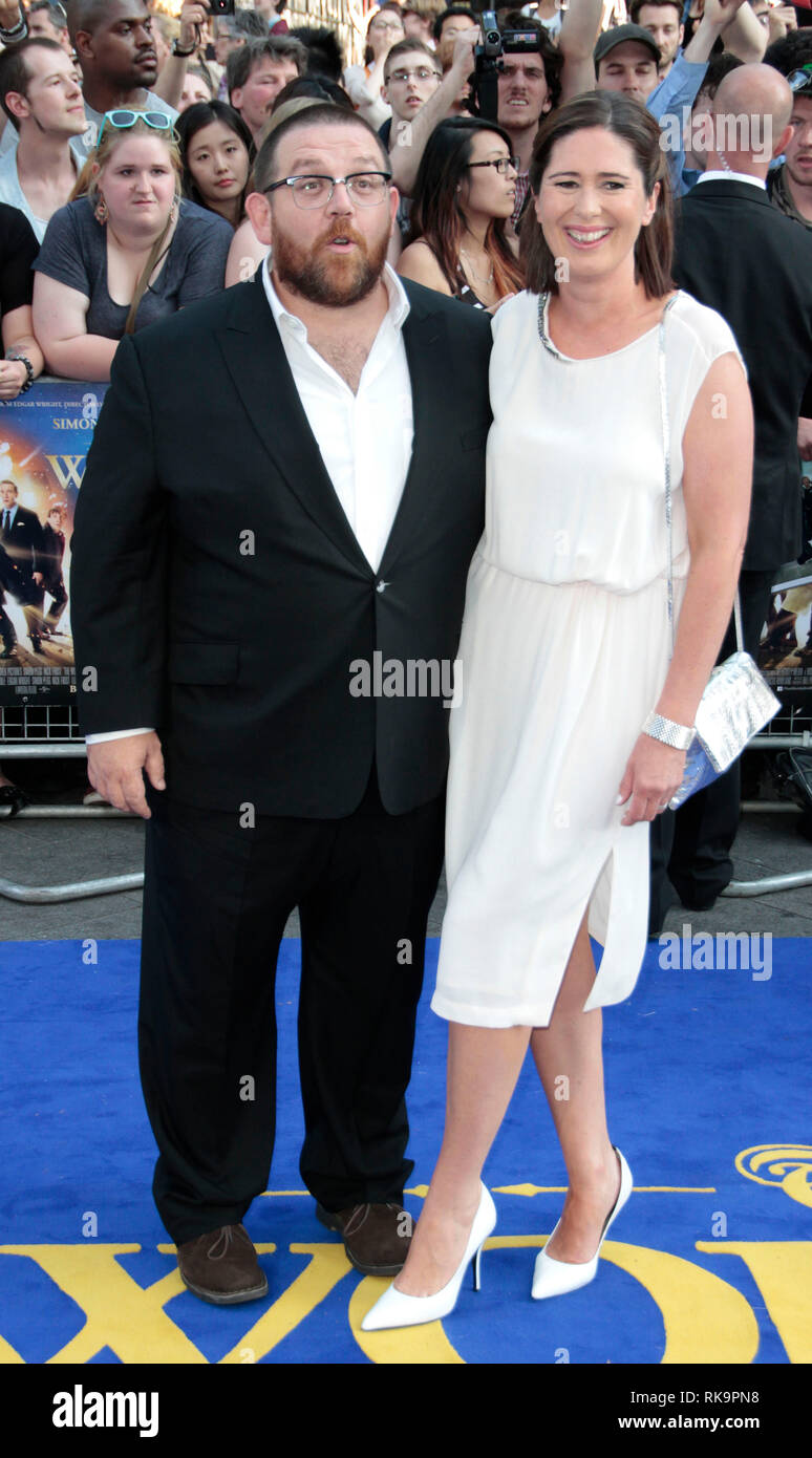 Nick Frost and wife Christina arrives for the WorldNick Frost Wife