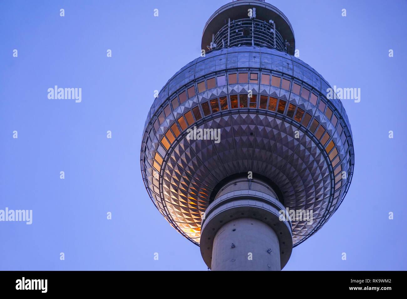 Berlin Alexanderplatz Fernsehturm - Stock Image