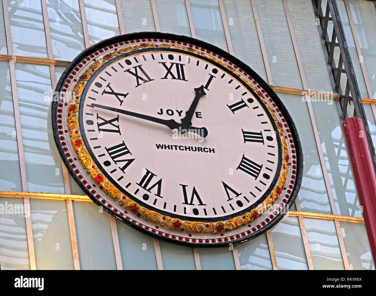 Joyce clock Whitchurch, at Liverpool Lime Street mainline railway station, Merseyside, England, UK, L1 1JD - Stock Image