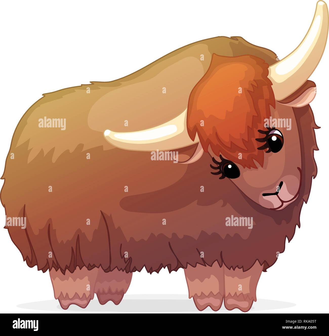 vector cartoon animal clipart: yak Stock Vector