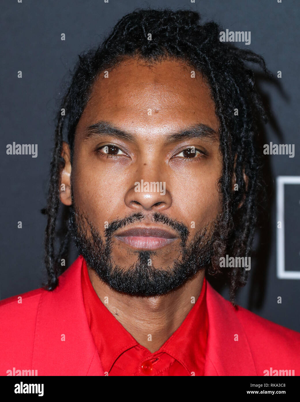California, USA. 9th Feb 2019.  Singer Miguel arrives at The Recording Academy And Clive Davis' 2019 Pre-GRAMMY Gala held at The Beverly Hilton Hotel on February 9, 2019 in Beverly Hills, Los Angeles, California, United States. (Photo by Xavier Collin/Image Press Agency) Credit: Image Press Agency/Alamy Live News Stock Photo