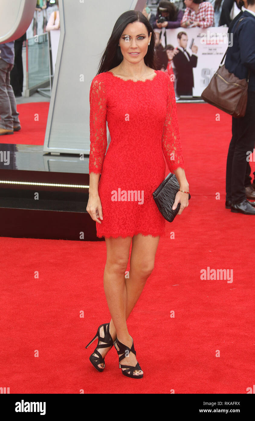 LONDON, ENGLAND, UK - MAY 27 - Linzi Stoppard attends 'Spy' European Premiere at Odeon Leicester Square on May 27, 2015 in London, England - Stock Image