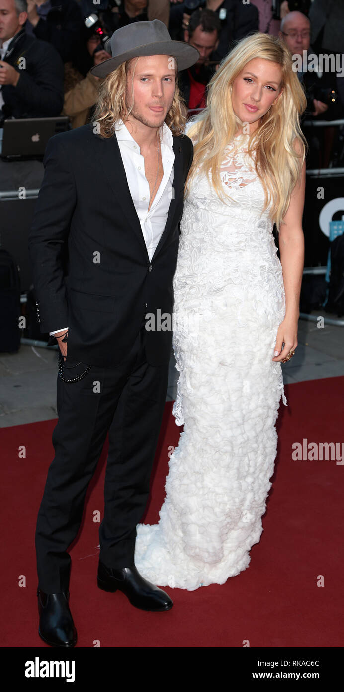 Dougie Poynter; Ellie Goulding arrives at the 2014 GQ Man of the Year Awards at The Royal Opera House in Covent Graden, London Stock Photo