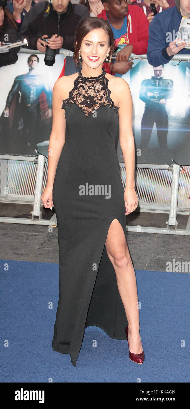 Jun 12, 2013 - London, England, UK - Man of Steel European Premiere, Empire, Leicester Square  Photo Shows: Lucy Watson Stock Photo