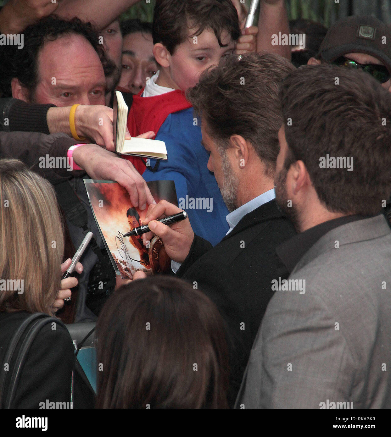 Jun 12, 2013 - London, England, UK - Man of Steel European Premiere, Empire, Leicester Square  Photo Shows: Russell Crowe Stock Photo