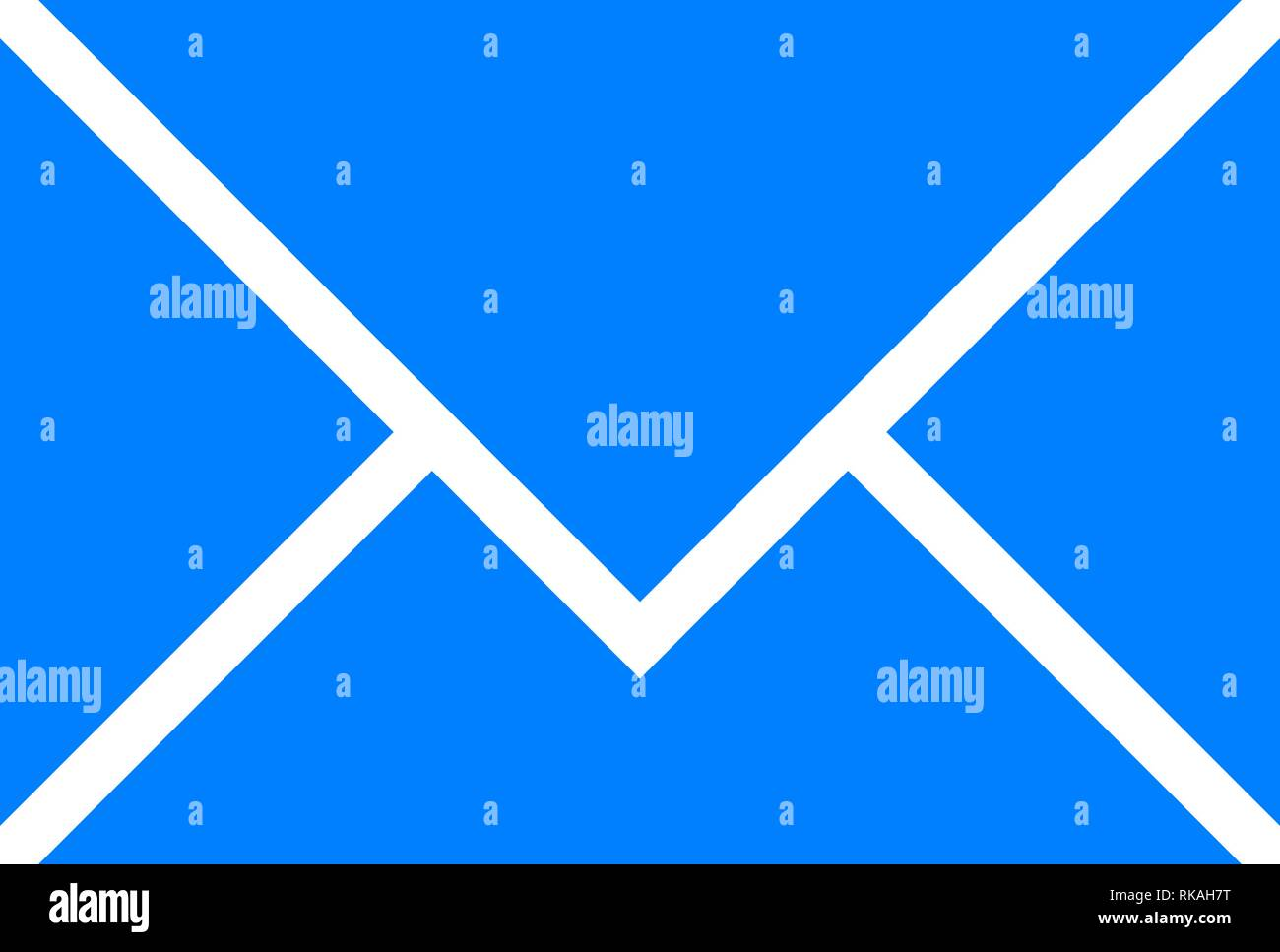 Mail symbol icon - blue simple, isolated - vector illustration - Stock Image