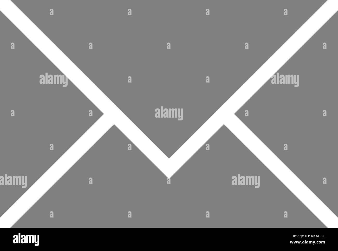 Mail symbol icon - gray simple, isolated - vector illustration - Stock Image