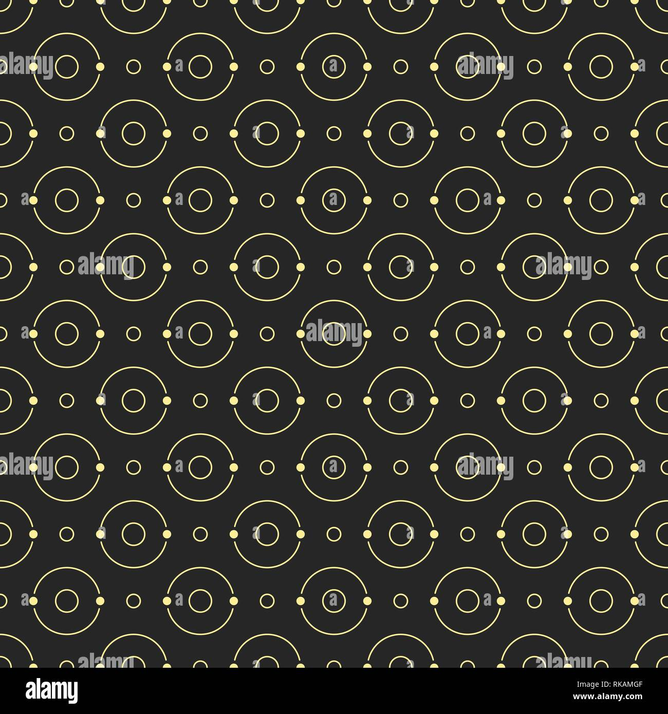 Abstract simple circles pattern of different sizes