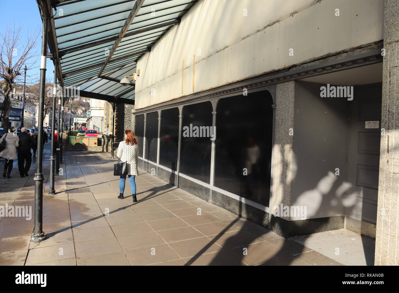 Empty shops on the high street Stock Photo