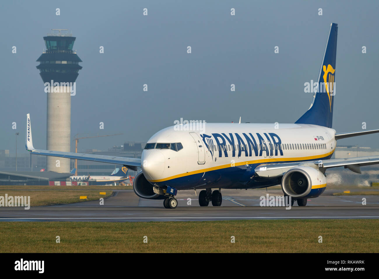 Ryanair Boeing 737-8AS, SP-RSN, Taxying for take off at Manchester Airport - Stock Image