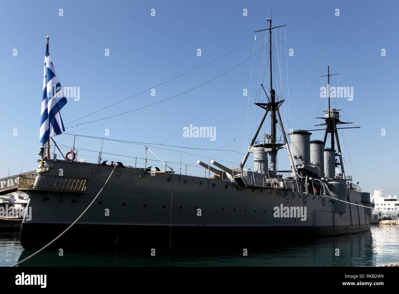Georgios Averof is a modified Pisa-class armored cruiser