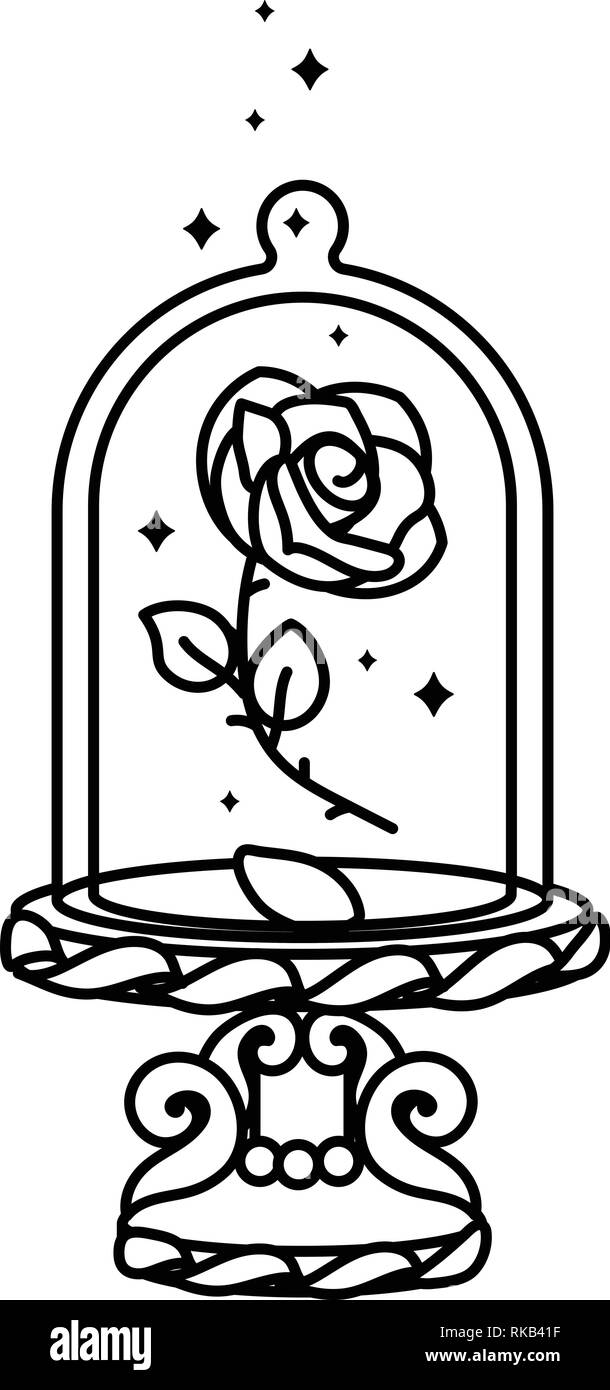 Fantasy Rose Black And White Stock Photos Images Alamy