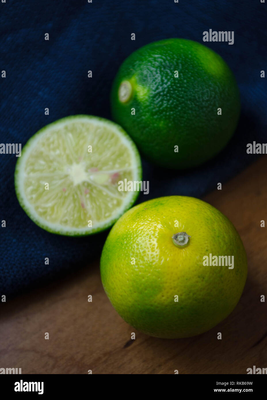 Sudachi - a very small, lime-like, sour citrus fruit native to Japan and used in traditional Japanese cuisine. - Stock Image