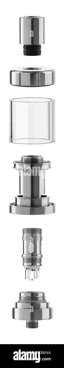 Vape atomizer components - Stock Image