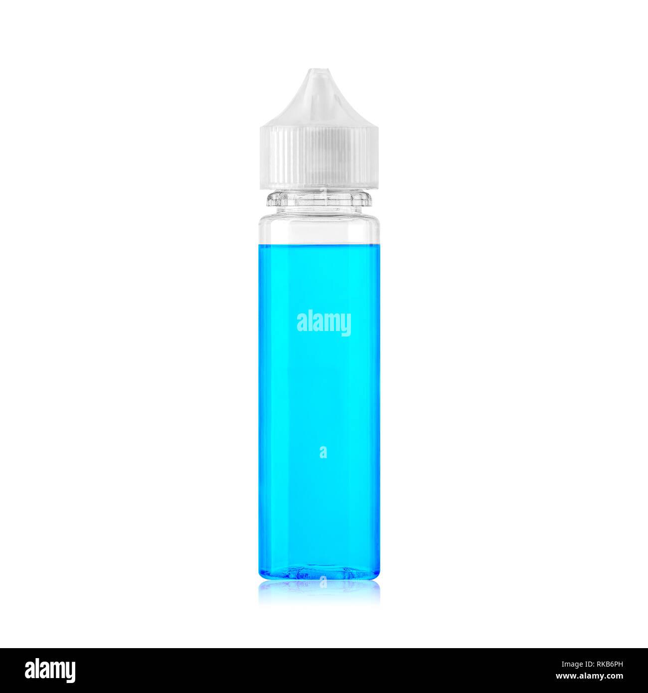 Vape transparent bottle - Stock Image