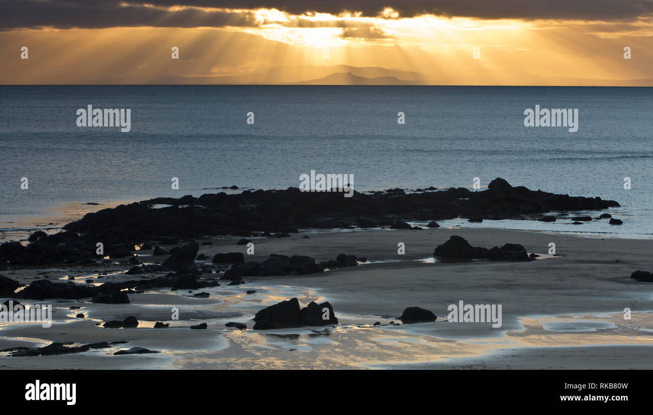 Elie beach, Fife, Scotland - Stock Image