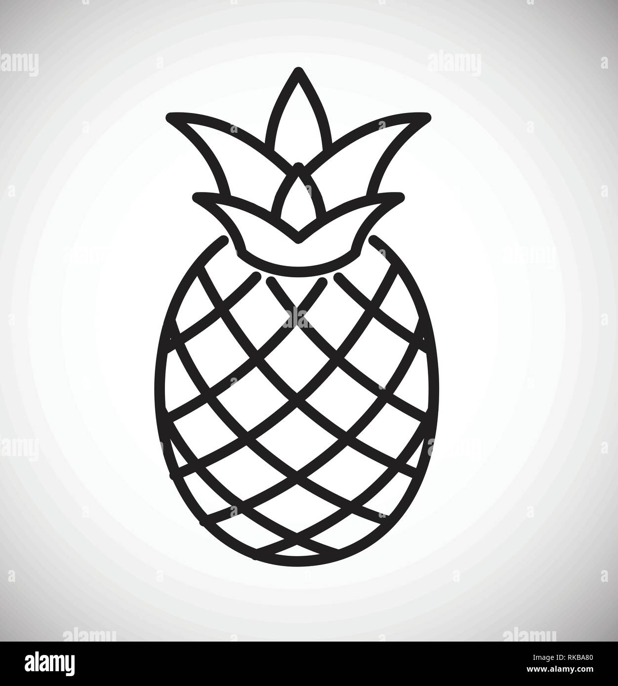 Pineapple Icon On White Background For Graphic And Web