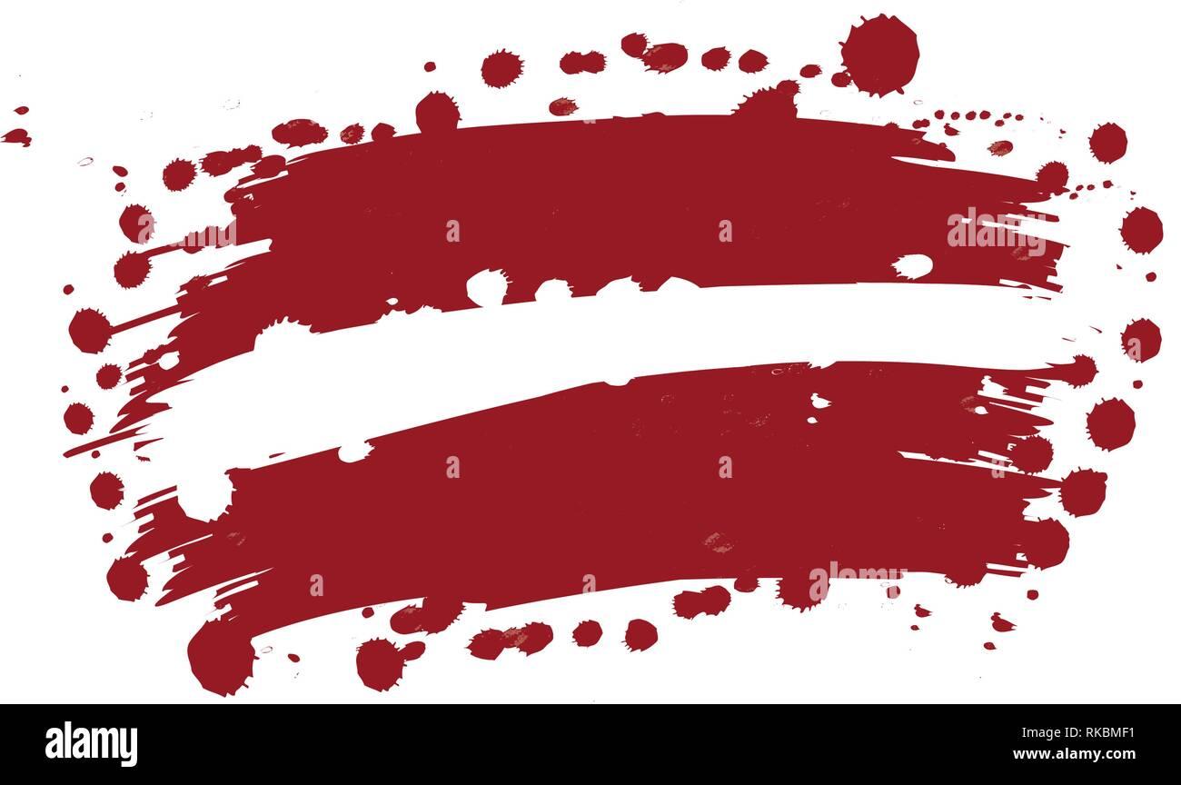 watercolor flag of Letonia, vector illustration design - Stock Image