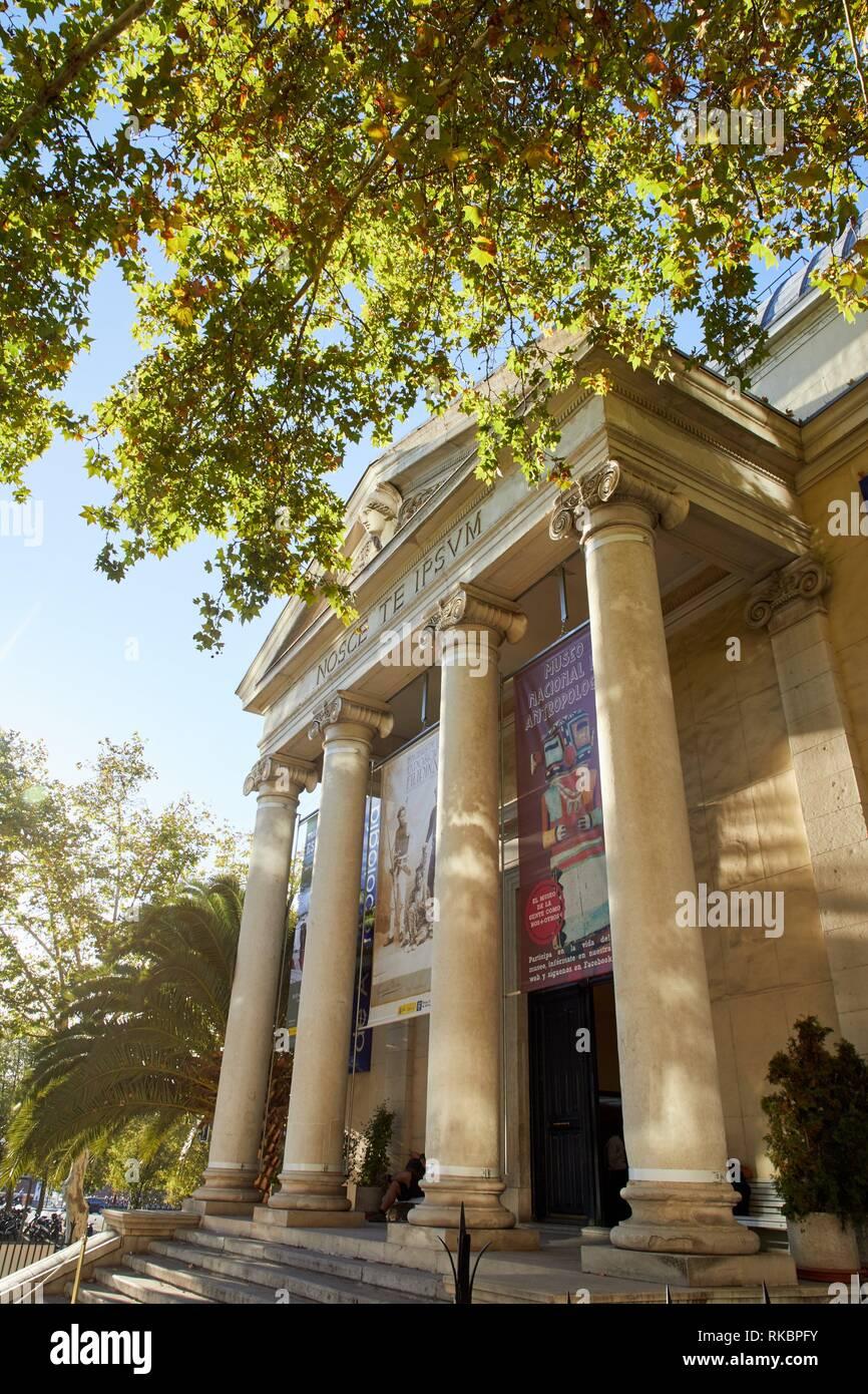 Museo Nacional de Antropología, Madrid, Spain, Europe - Stock Image