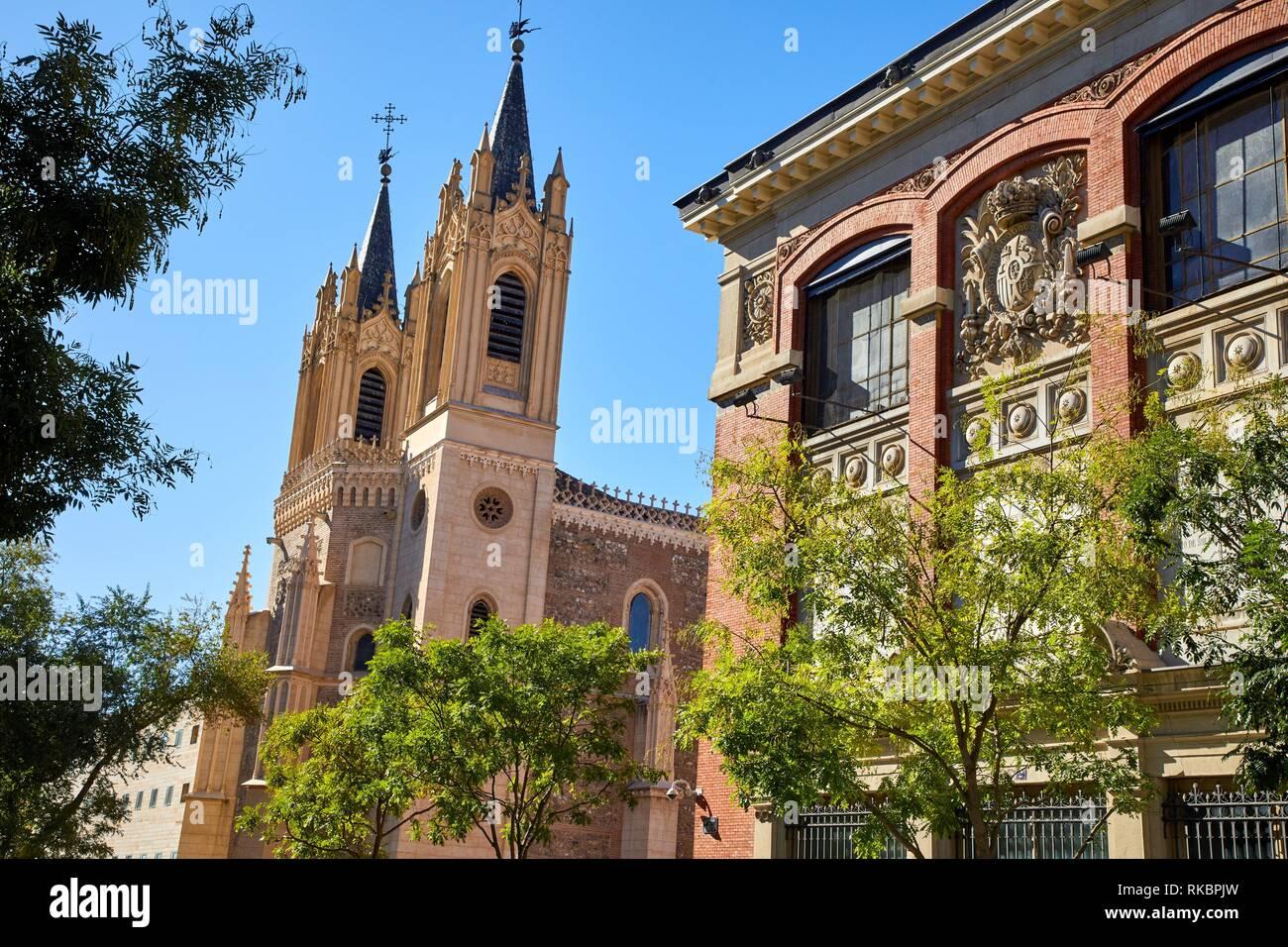 Real Academia Española building, San Jerónimo el Real, Moreto street, Madrid, Spain, Europe - Stock Image