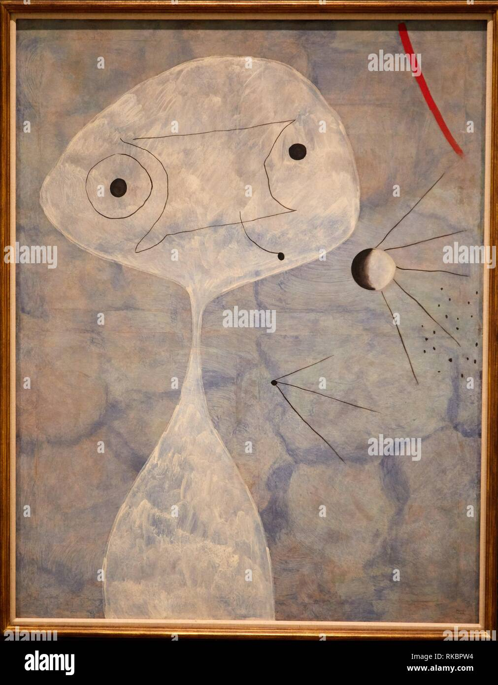 Painting (Man with a Pipe), 1925, Joan Miró, Museo Nacional Centro de Arte Reina Sofia, Madrid, Spain, Europe - Stock Image