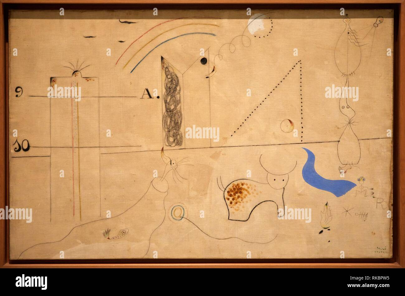 Pastoral, 1923 - 1924, Joan Miró, Museo Nacional Centro de Arte Reina Sofia, Madrid, Spain, Europe Stock Photo