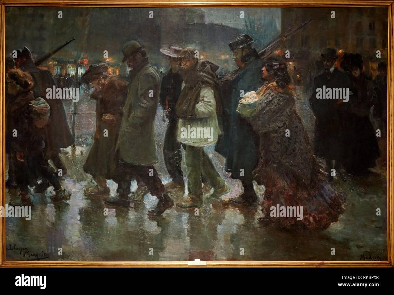 Chain Gang, 1901, José María López Mezquita, Museo Nacional Centro de Arte Reina Sofia, Madrid, Spain, Europe - Stock Image