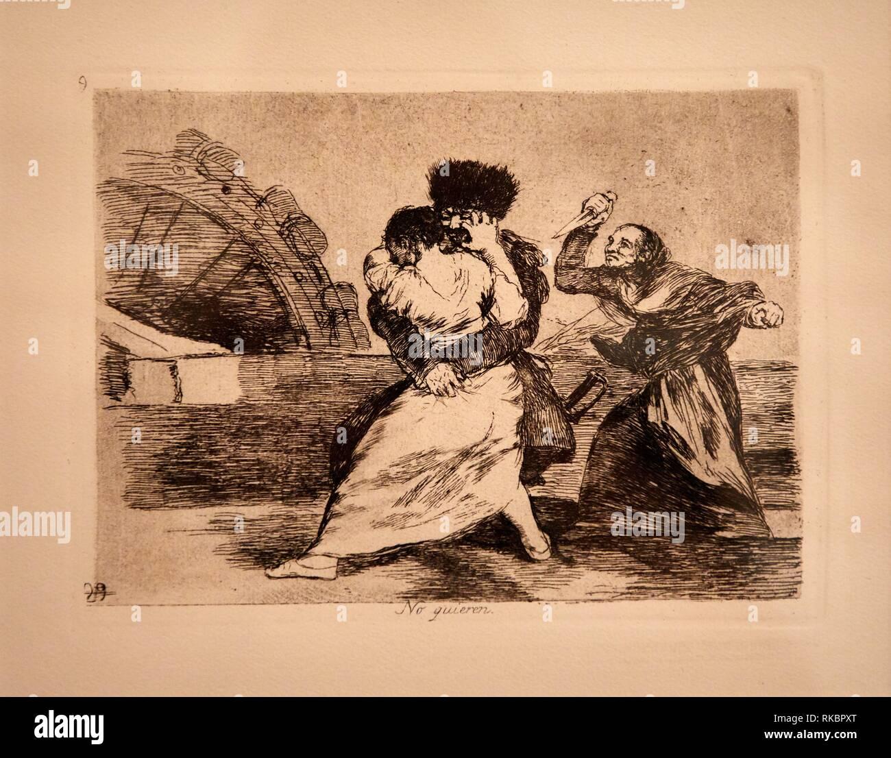 The Disasters of War, Francisco de Goya, Museo Nacional Centro de Arte Reina Sofia, Madrid, Spain, Europe Stock Photo