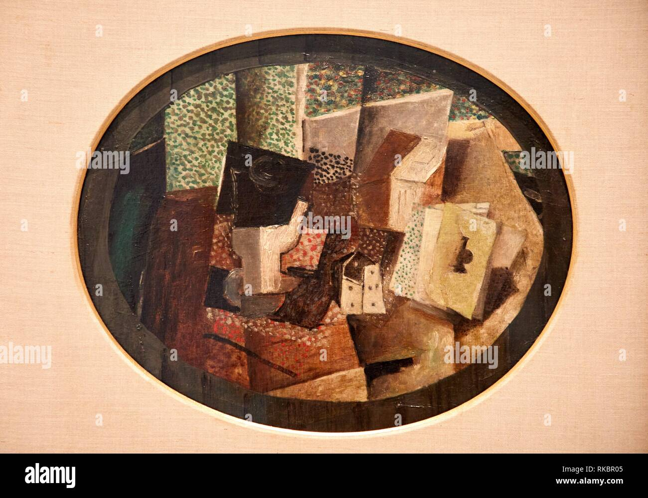 Cards and Dice, 1914, George Braque, Museo Nacional Centro de Arte Reina Sofia, Madrid, Spain, Europe - Stock Image