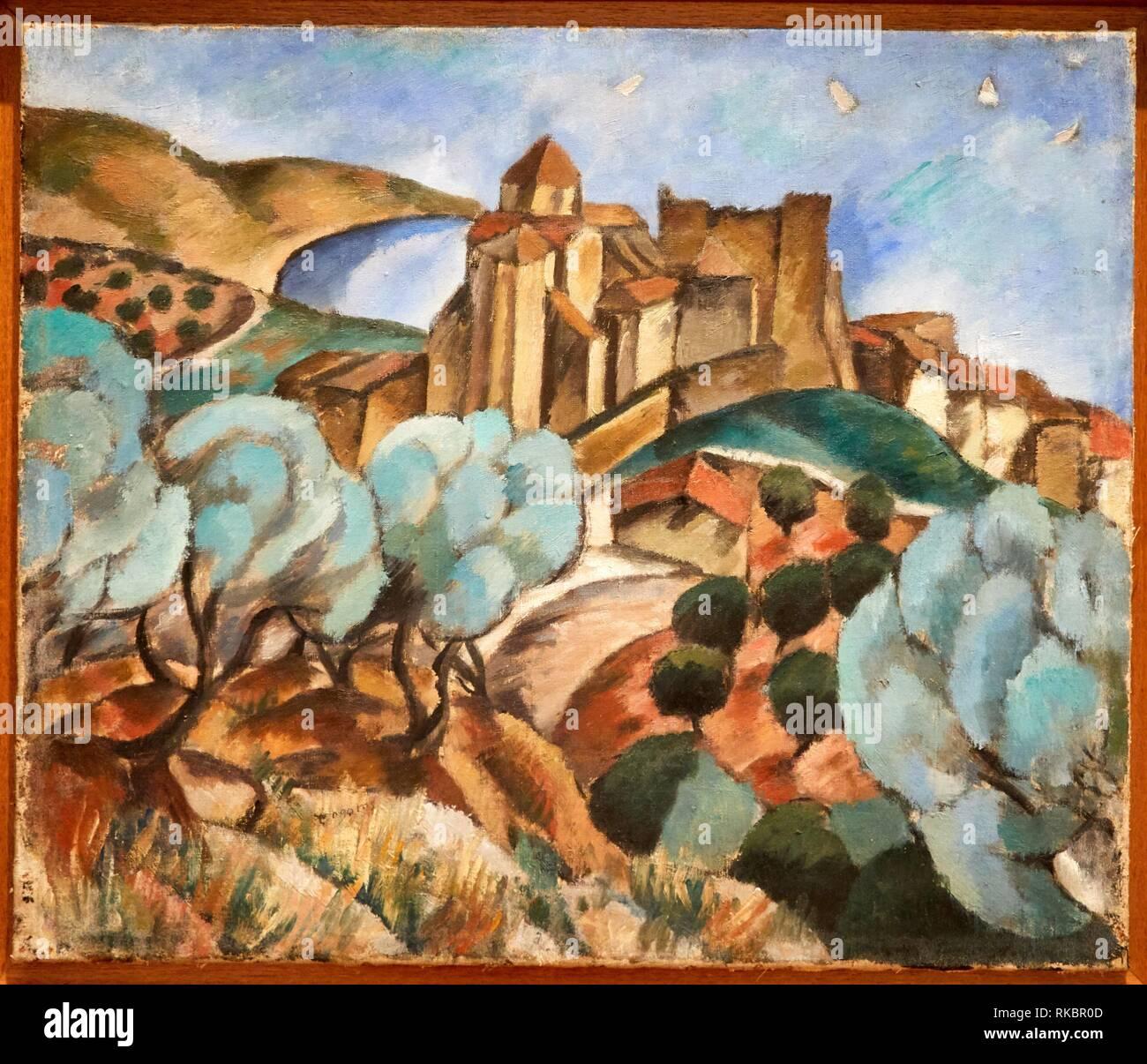 Landscape, 1917, José de Togores, Museo Nacional Centro de Arte Reina Sofia, Madrid, Spain, Europe Stock Photo