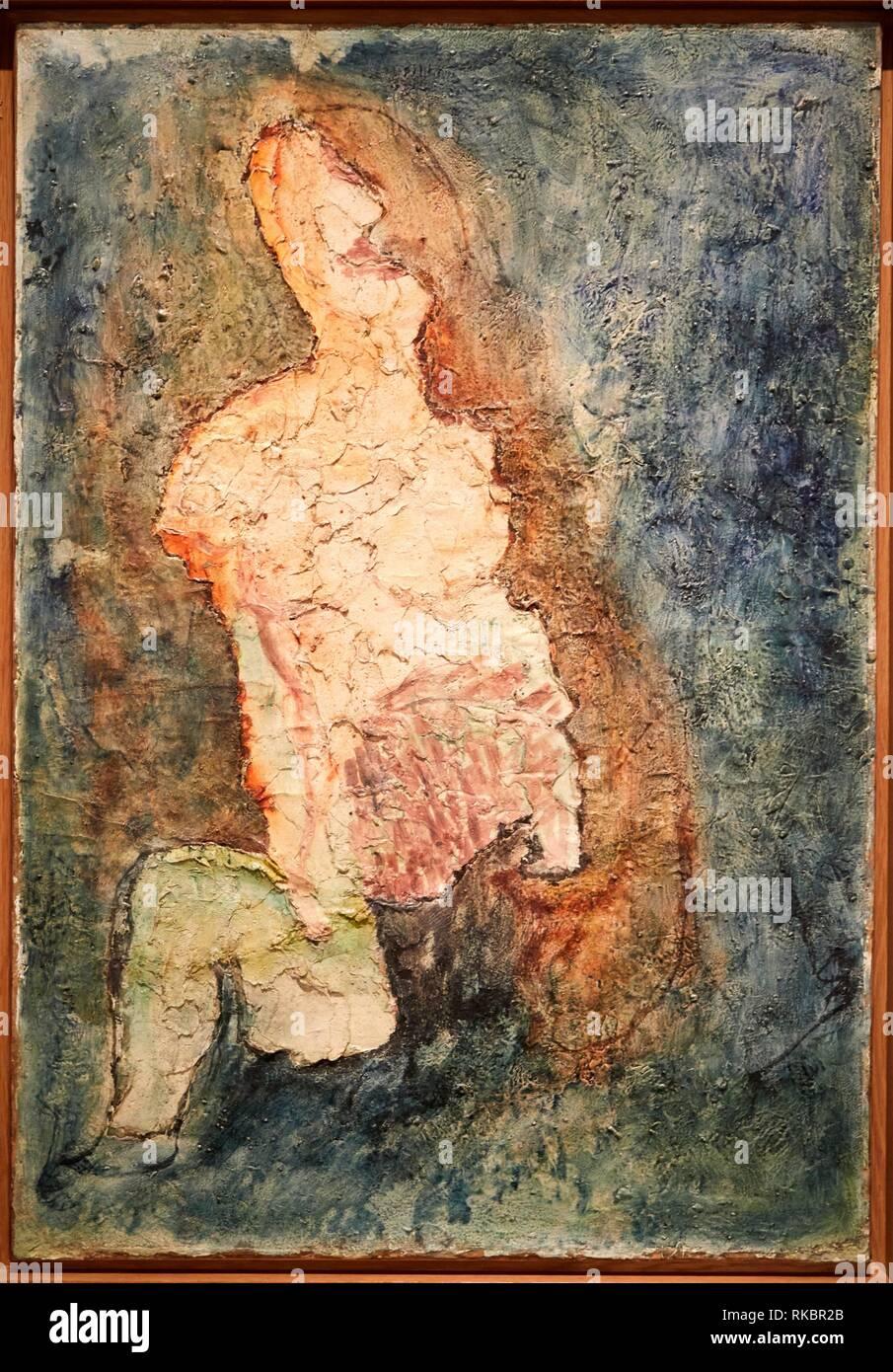 Sarah, 1943, Jean Fautrier, Museo Nacional Centro de Arte Reina Sofia, Madrid, Spain, Europe - Stock Image