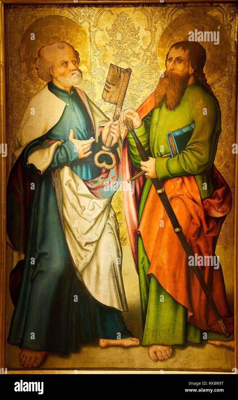 Saint Pierre et Saint Paul, Allemagne du Sud, Fine Arts Museum, Musée des Beaux-Arts, Dijon, Côte d´Or, Burgundy Region, Bourgogne, France, Europe - Stock Image