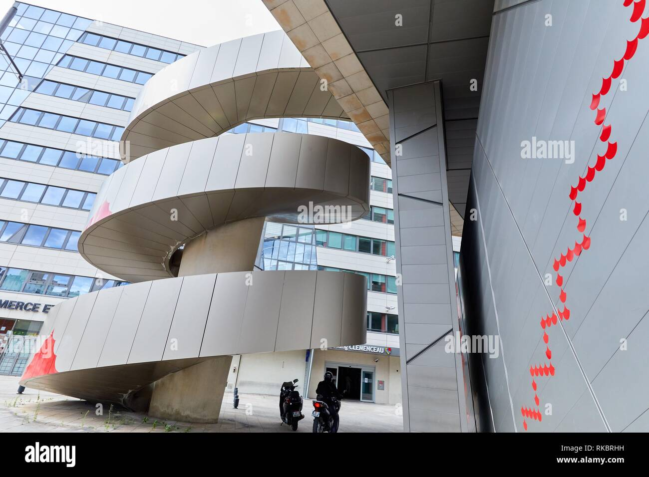 Chambre de Commerce et d´Industrie, Auditorium, Dijon, Côte d´Or, Burgundy Region, Bourgogne, France, Europe - Stock Image