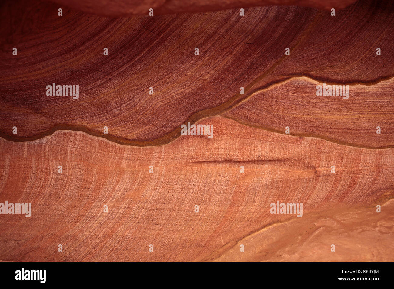 Rock formations in Egypt's Coloured Canyon, located near the Sinai town of Nuweiba, Egypt. (Photo/Hasan Jamali) - Stock Image
