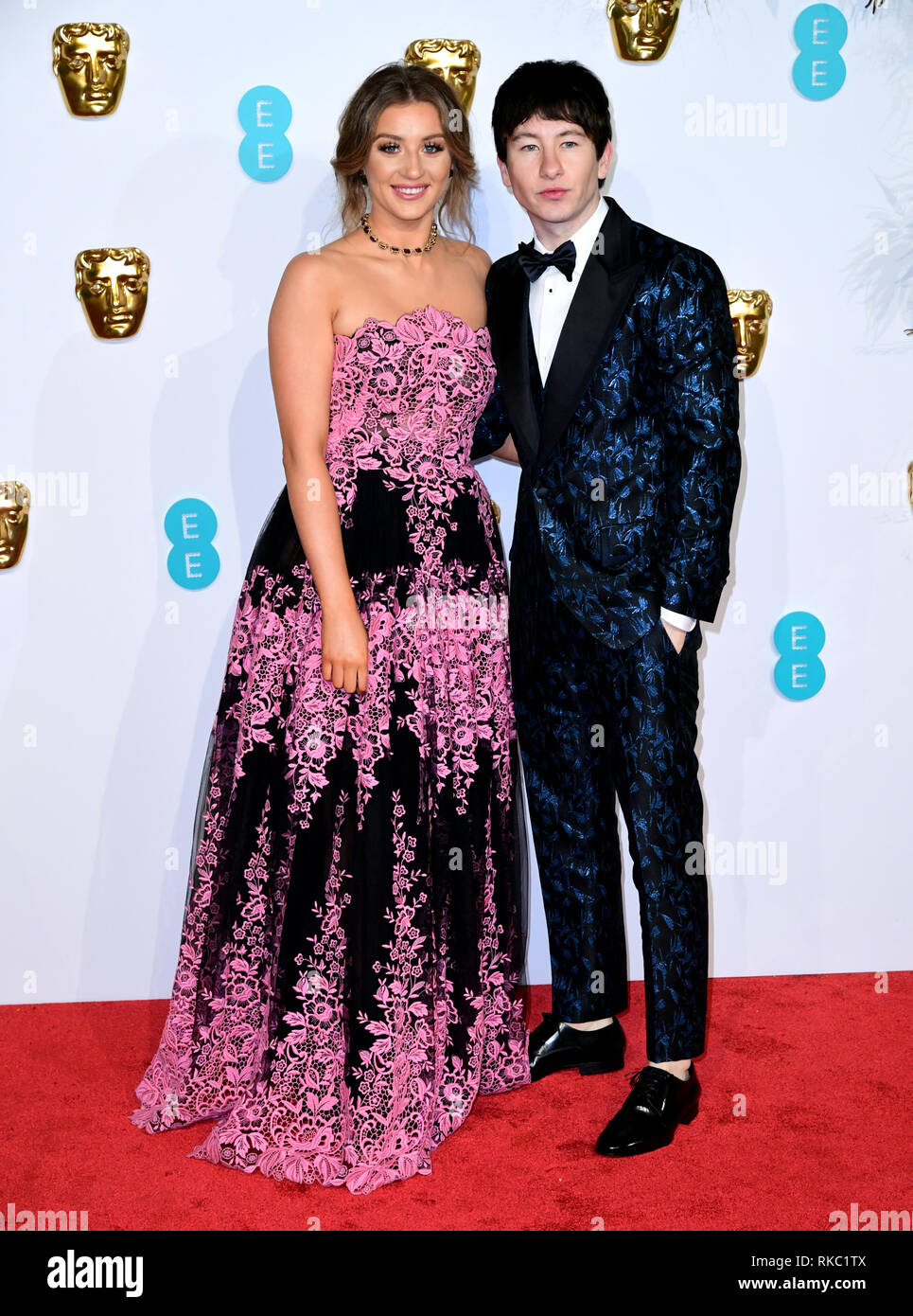 Barry Keoghan attending the 72nd British Academy Film Awards held at the Royal Albert Hall, Kensington Gore, Kensington, London. - Stock Image