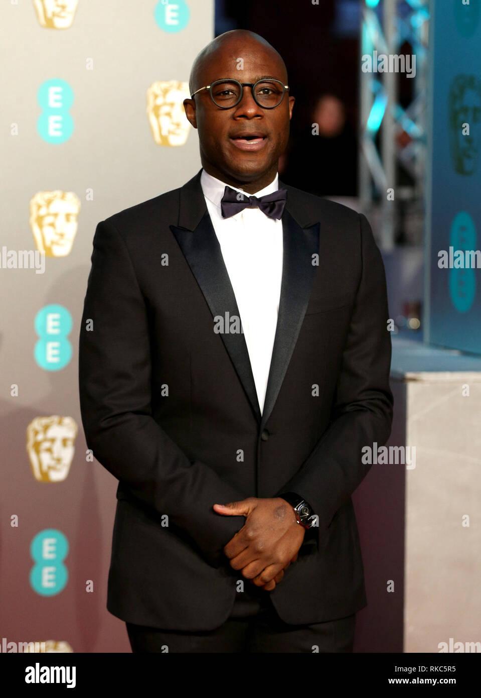 Barry Jenkins attending the 72nd British Academy Film Awards held at the Royal Albert Hall, Kensington Gore, Kensington, London. - Stock Image