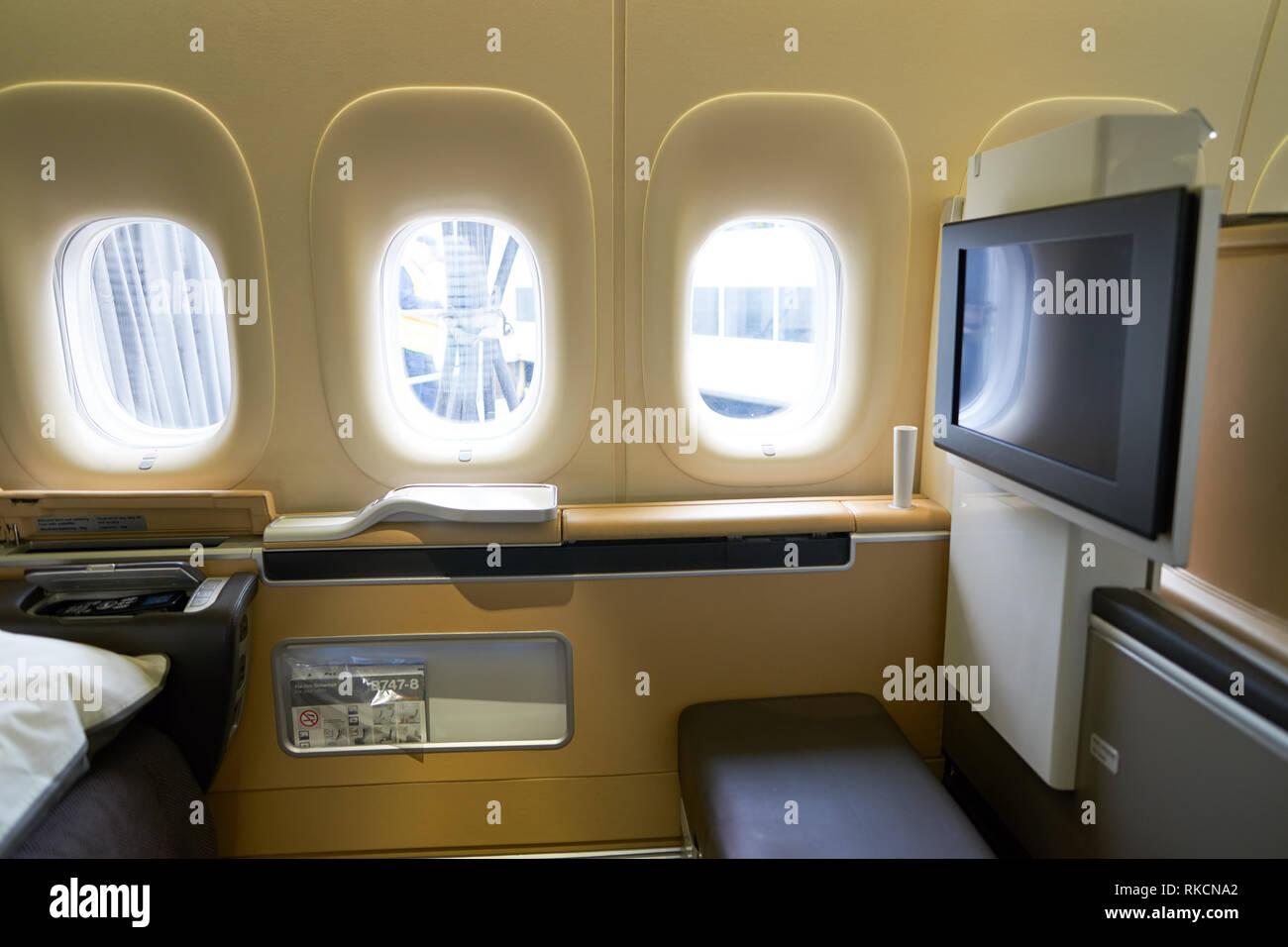 Boeing 747 Interior Stock Photos & Boeing 747 Interior Stock Images