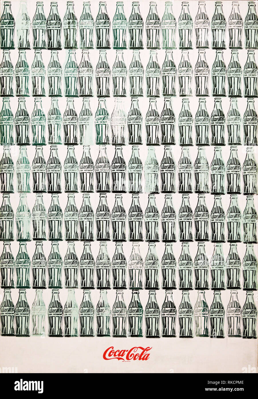 Green Coca-Cola bottles, 1962, Andy Warhol - Stock Image