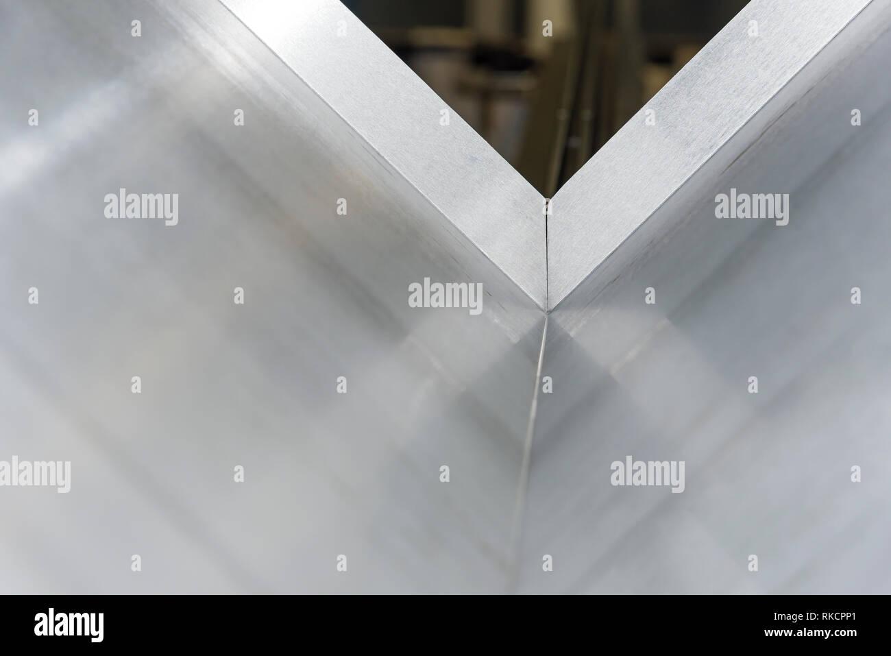 operator bending metal sheet by sheet bending machine sheet bending machines - Stock Image