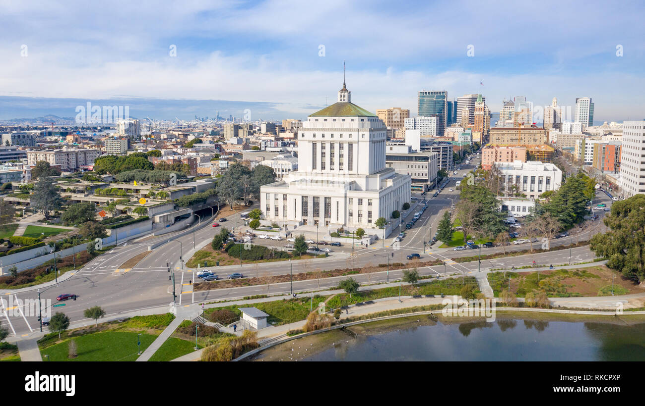 Alameda County Superior Courthouse, Oakland, CA, USA Stock