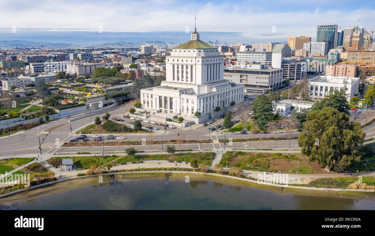 Alameda County Superior Courthouse, Oakland, CA, USA - Stock Image