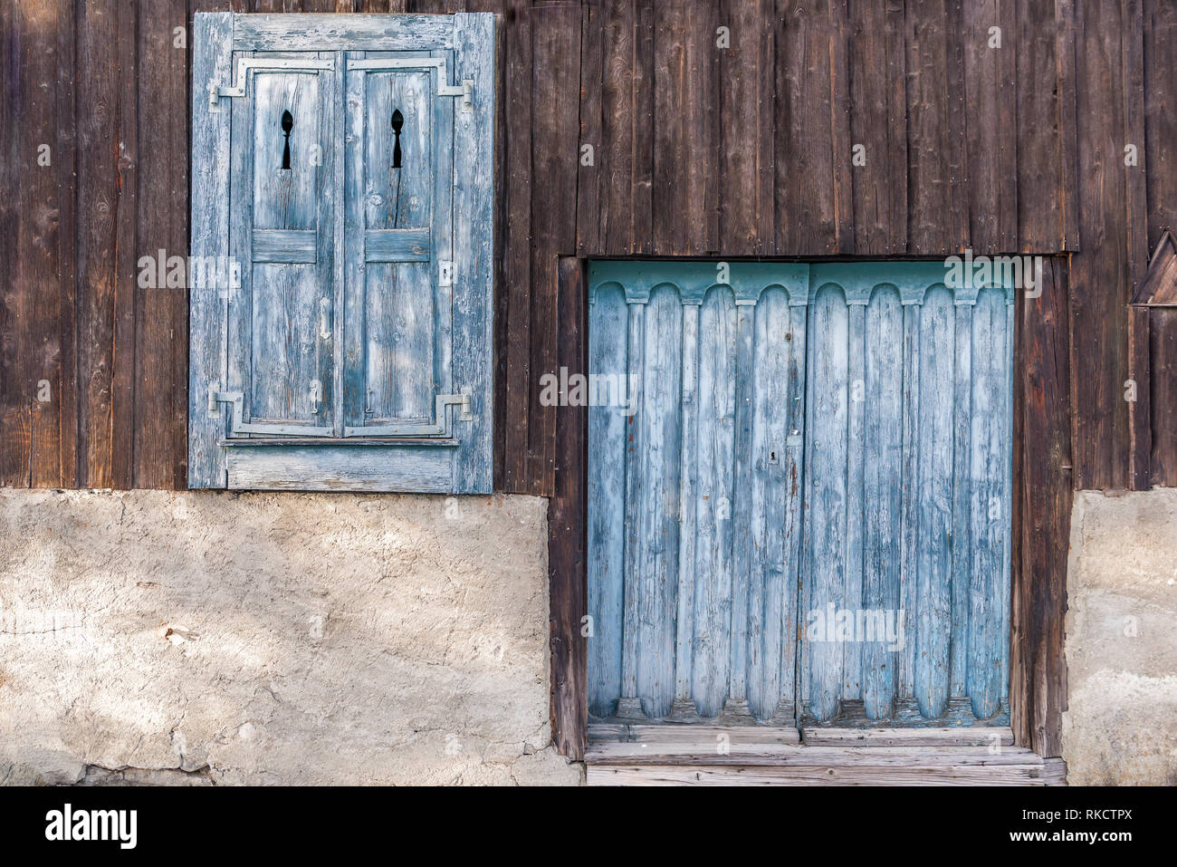 Traditional Wood Joinery Window Shutters And Door Of Wooden