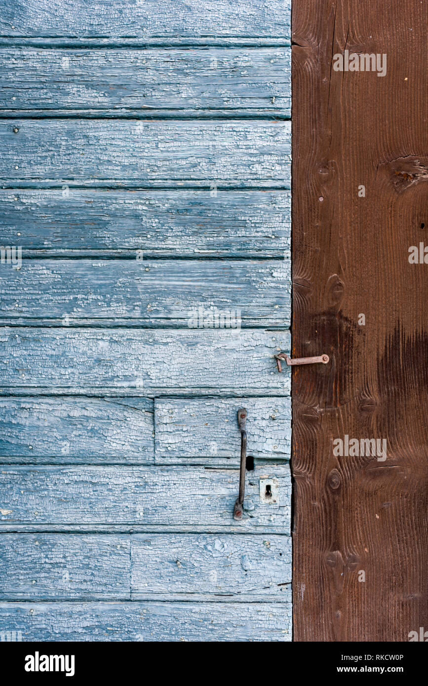 Detail Of Traditional Blue Paint Wood Entrance Door Inset To Brown Wood Panel Wall Of Alpine Outbuilding With Metal Handle And Latch Stock Photo Alamy,One Bedroom Apartments In Brooklyn Ny