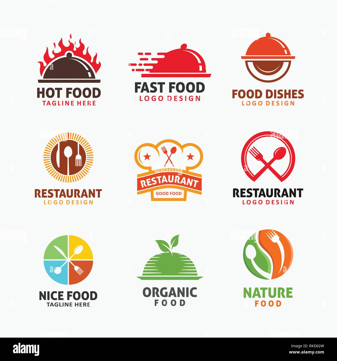 Collection Of Food Logo Design Stock Vector Image Art Alamy