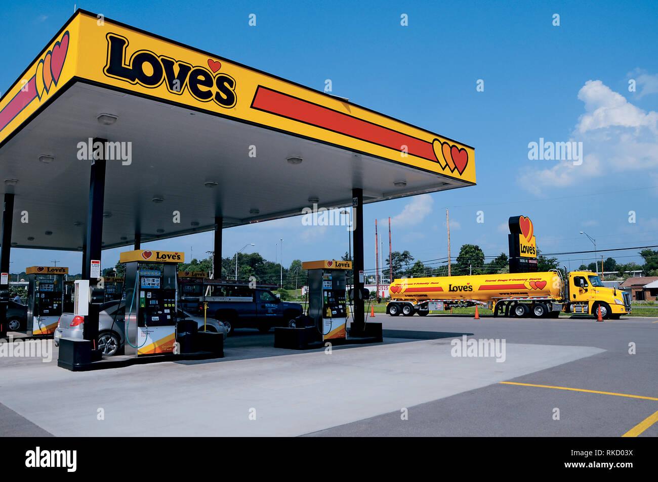 Love's Travel Stop - Stock Image