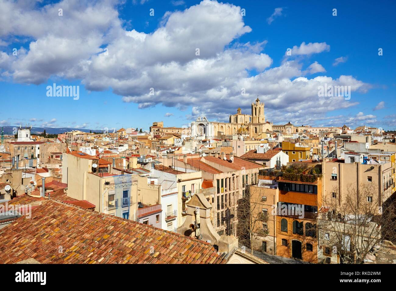 Cathedral, Plaça del Rei, Tarragona City, Catalonia, Spain, Europe - Stock Image