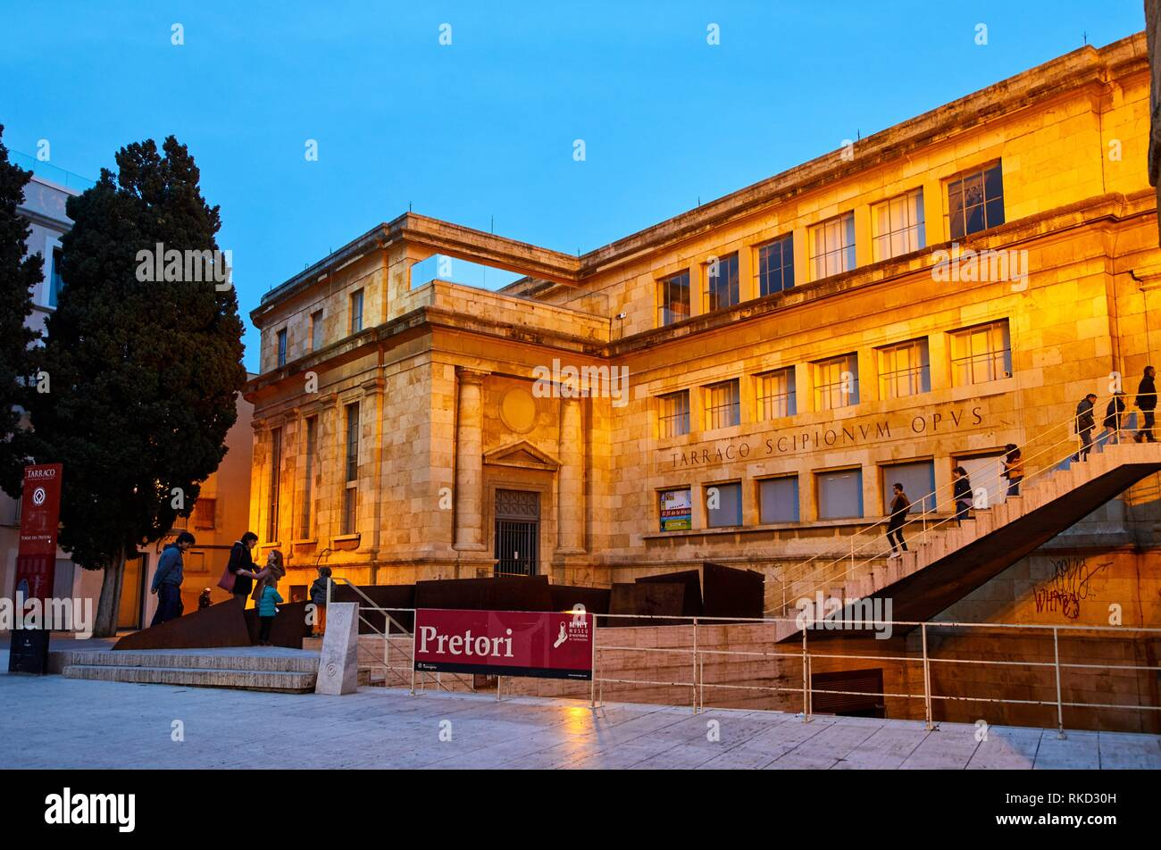 National Archaeological Museum (MNAT), Tarragona City, Catalonia, Spain, Europe - Stock Image