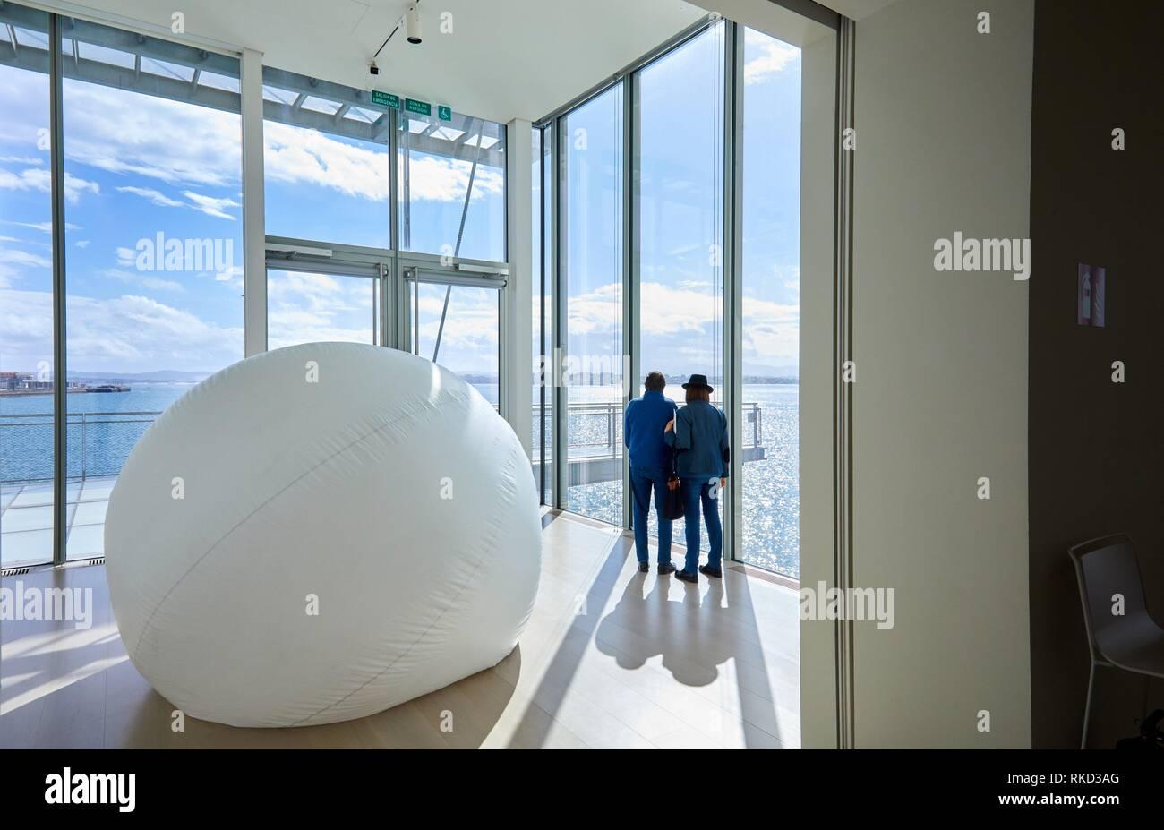 Botin Center Museum Art and Culture, Architect Renzo Piano, Santander bay, Santander, Cantabria, Spain, Europe - Stock Image