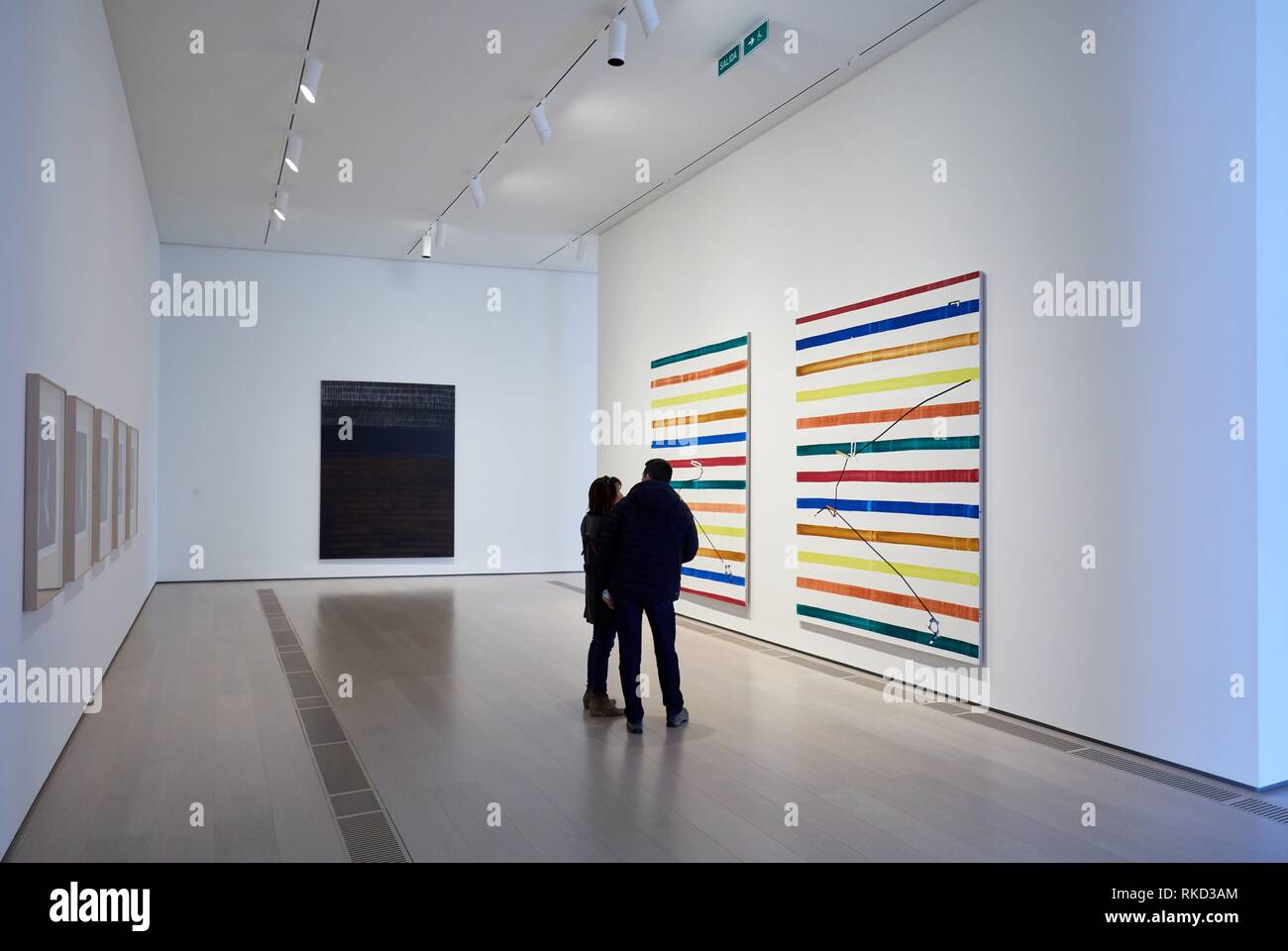 Botin Center Museum Art and Culture, Architect Renzo Piano, Santander, Cantabria, Spain, Europe - Stock Image