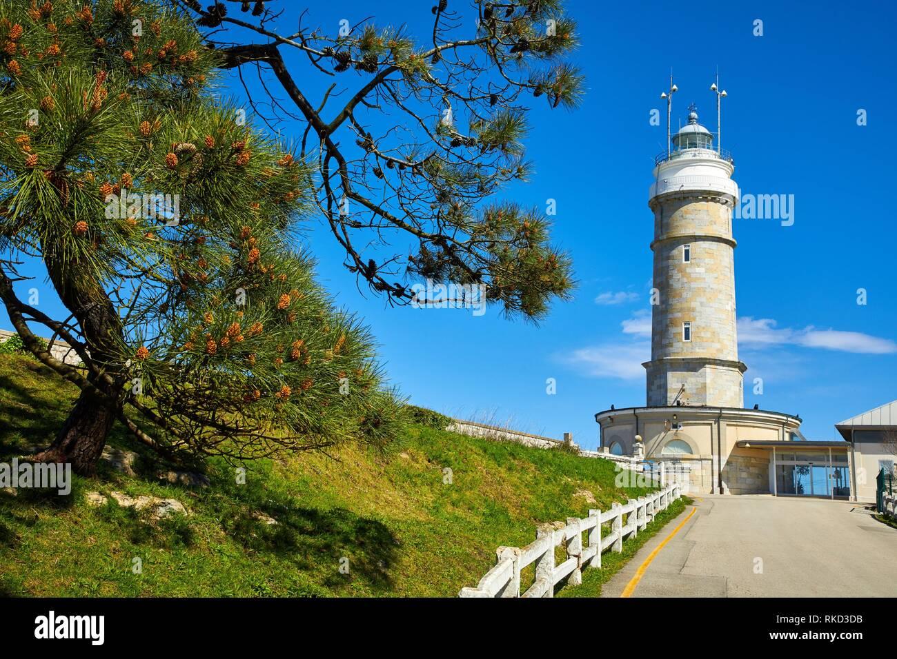 Lighthouse of Cabo Mayor, Santander, Cantabria, Spain, Europe - Stock Image